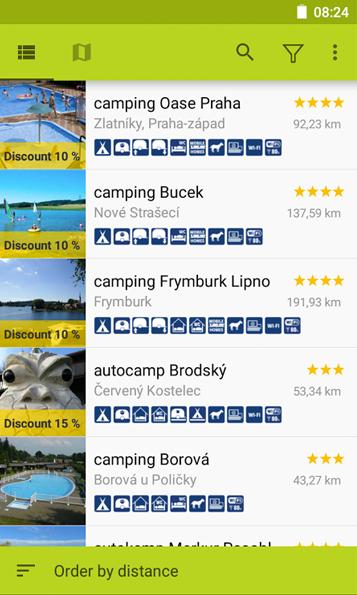 Campsites in Czech&Slovak Republic